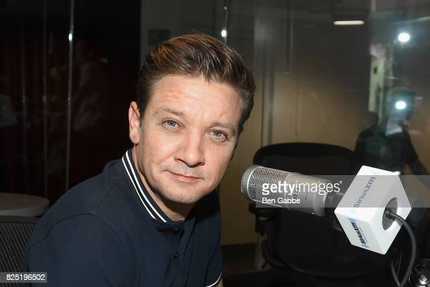 Actor Jeremy Renner visits at SiriusXM Studios on August 1 2017 in New York City