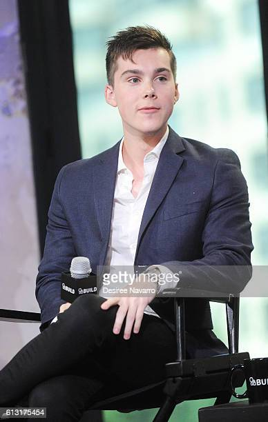 Actor Jeremy Shada attends The Build Series to discuss 'Mr Student Body President' at AOL HQ on October 7 2016 in New York City