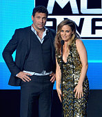 Actor Jeremy Sisto and actress Alicia Silverstone speak onstage during the 2015 American Music Awards at Microsoft Theater on November 22 2015 in Los...
