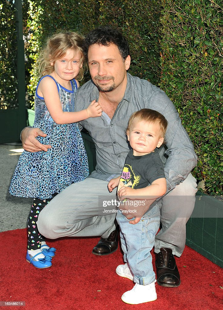 Actor <a gi-track='captionPersonalityLinkClicked' href=/galleries/search?phrase=Jeremy+Sisto&family=editorial&specificpeople=207064 ng-click='$event.stopPropagation()'>Jeremy Sisto</a> and children Charlie Ballerina Sisto, Bastian Kick Sisto attends the John Varvatos 10th Annual Stuart House Benefit held at John Varvatos Los Angeles store on March 10, 2013 in Los Angeles, California.