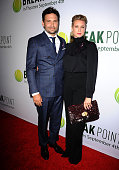 Actor Jeremy Sisto and wife Addie Lane attend a screening of 'Break Point' at TCL Chinese 6 Theatres on August 27 2015 in Hollywood California