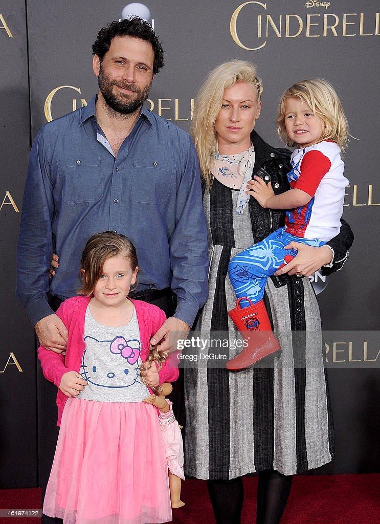 Actor Jeremy Sisto wife Addie Lane children Bastian Kick Sisto and Charlie Ballerina Sisto arrive at the World Premiere of Disney's 'Cinderella' at...