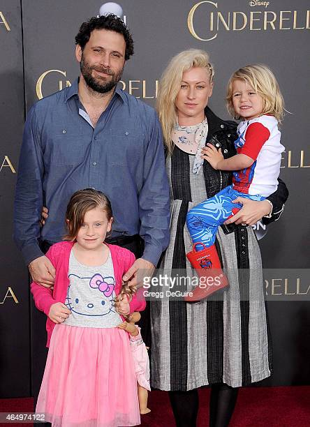 Actor Jeremy Sisto wife Addie Lane children Bastian Kick Sisto and Charlie Ballerina Sisto arrive at the World Premiere of Disney's 'Cinderella' at...