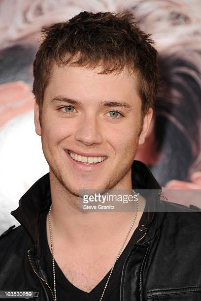 Actor Jeremy Sumpter attends 'The Incredible Burt Wonderstone' Los Angeles Premiere at TCL Chinese Theatre on March 11 2013 in Hollywood California