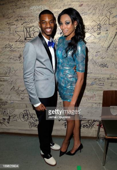 Actor Jermaine Crawford and model Bianca Golden attend the 2013 HOPE Inaugural Youth Ball at the Howard Theatre on January 20 2013 in Washington DC