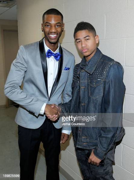 Actor Jermaine Crawford and singer Torion Sellers attends the 2013 HOPE Inaugural Youth Ball at the Howard Theatre on January 20 2013 in Washington DC