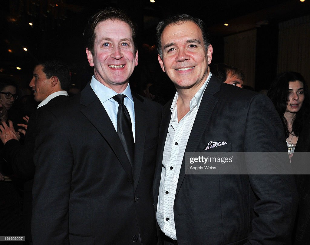 Actor Jerry Christakos and his husband David attend the opening night after party of 'Jekyll & Hyde' held at Beso on February 12, 2013 in Hollywood, California.