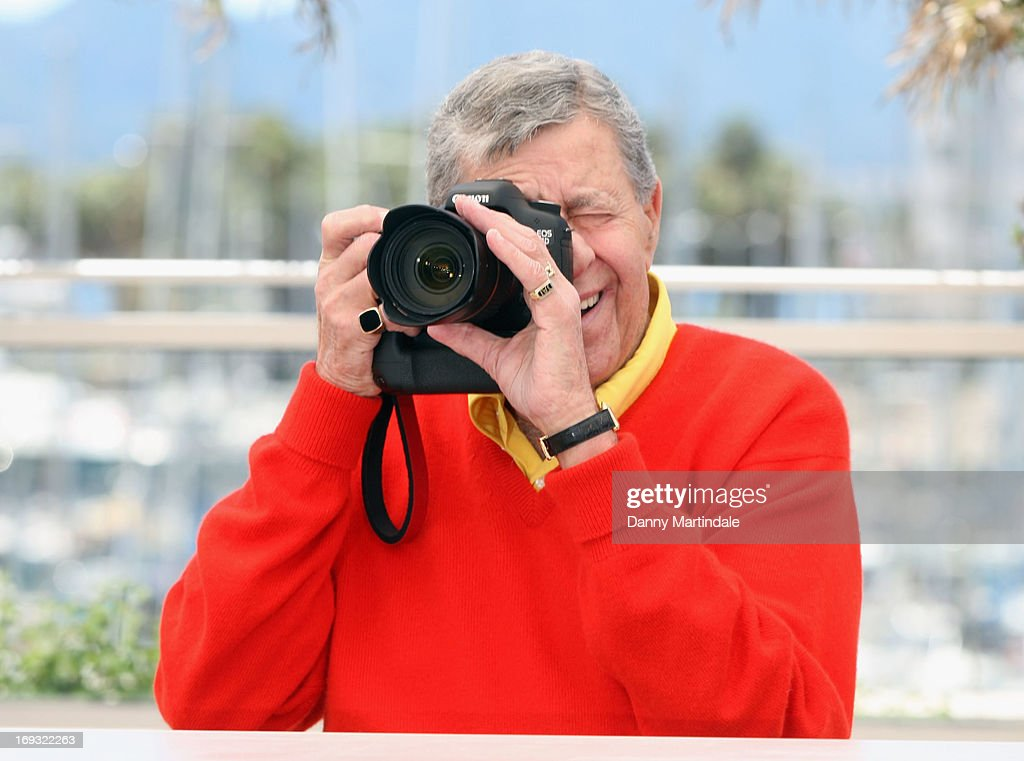 Actor <a gi-track='captionPersonalityLinkClicked' href=/galleries/search?phrase=Jerry+Lewis+-+Comedian&family=editorial&specificpeople=202947 ng-click='$event.stopPropagation()'>Jerry Lewis</a> attends the photocall for 'Max Rose' at The 66th Annual Cannes Film Festival at the Palais des Festivals on May 23, 2013 in Cannes, France.