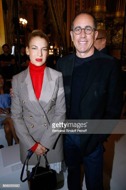 Actor Jerry Seinfeld and his wife Jessica attend the Stella McCartney show as part of the Paris Fashion Week Womenswear Spring/Summer 2018 on October...