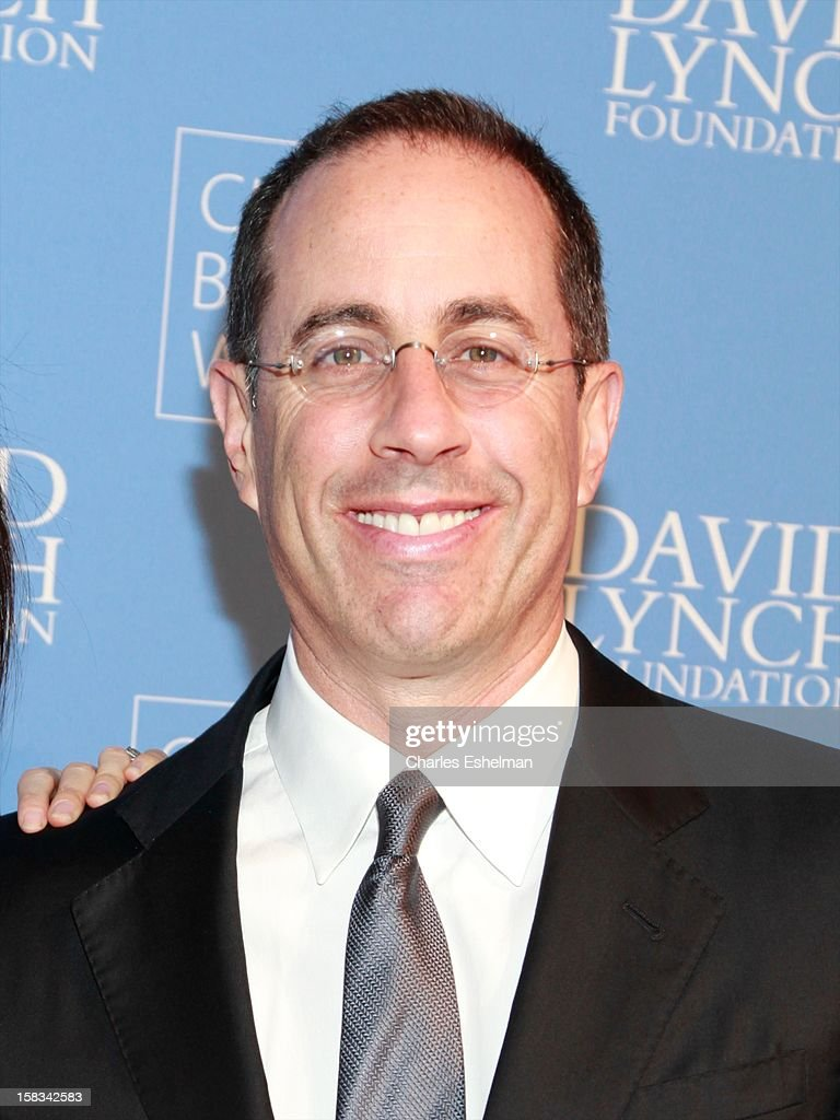Actor <a gi-track='captionPersonalityLinkClicked' href=/galleries/search?phrase=Jerry+Seinfeld&family=editorial&specificpeople=210541 ng-click='$event.stopPropagation()'>Jerry Seinfeld</a> attends the David Lynch Foundation hosts 'An Intimate Night Of Jazz' at Frederick P. Rose Hall, Jazz at Lincoln Center on December 13, 2012 in New York City.