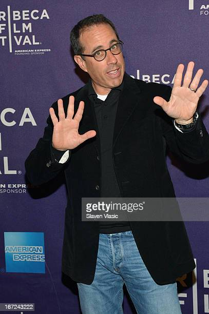 Actor Jerry Seinfeld attends the 'Kiss The Water' Premiere during the 2013 Tribeca Film Festival on April 22 2013 in New York City