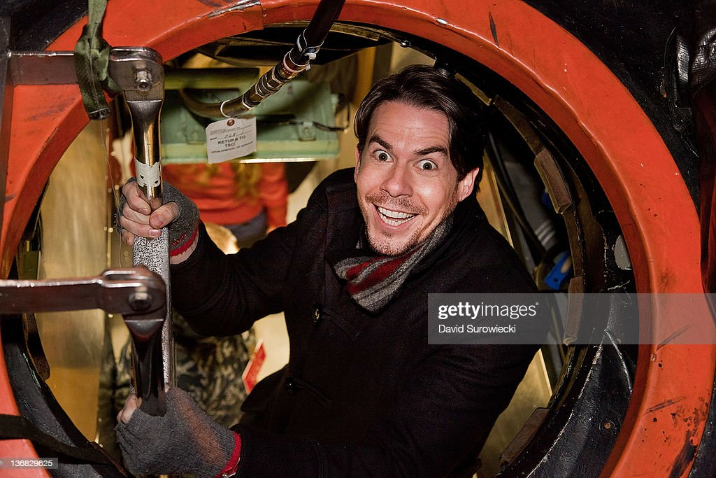 Actor Jerry Trainor enters the submarine USS Hartford at Naval Submarine Base New London on January 11, 2012 in Groton, Connecticut. Trainor and the cast of iCarly were presenting a special military family screening of iMeet The First Lady, an episode of their show featuring Michelle Obama.