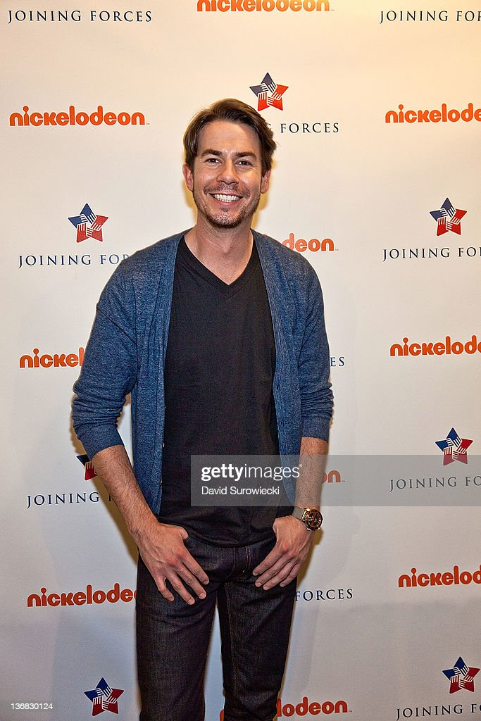 Actor <a gi-track='captionPersonalityLinkClicked' href=/galleries/search?phrase=Jerry+Trainor&family=editorial&specificpeople=4408709 ng-click='$event.stopPropagation()'>Jerry Trainor</a> poses backstage at the auditorium at Naval Submarine Base New London on January 11, 2012 in Groton, Connecticut. The cast of Nickelodeon's iCarly were presenting a special military family screening of iMeet The First Lady, an episode of their show featuring Michelle Obama.