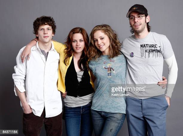 Actor Jesse Eisenberg actress Kristen Stewart actress Margarita Levieva and actor Martin Starr pose for a portrait during the 2009 Sundance Film...