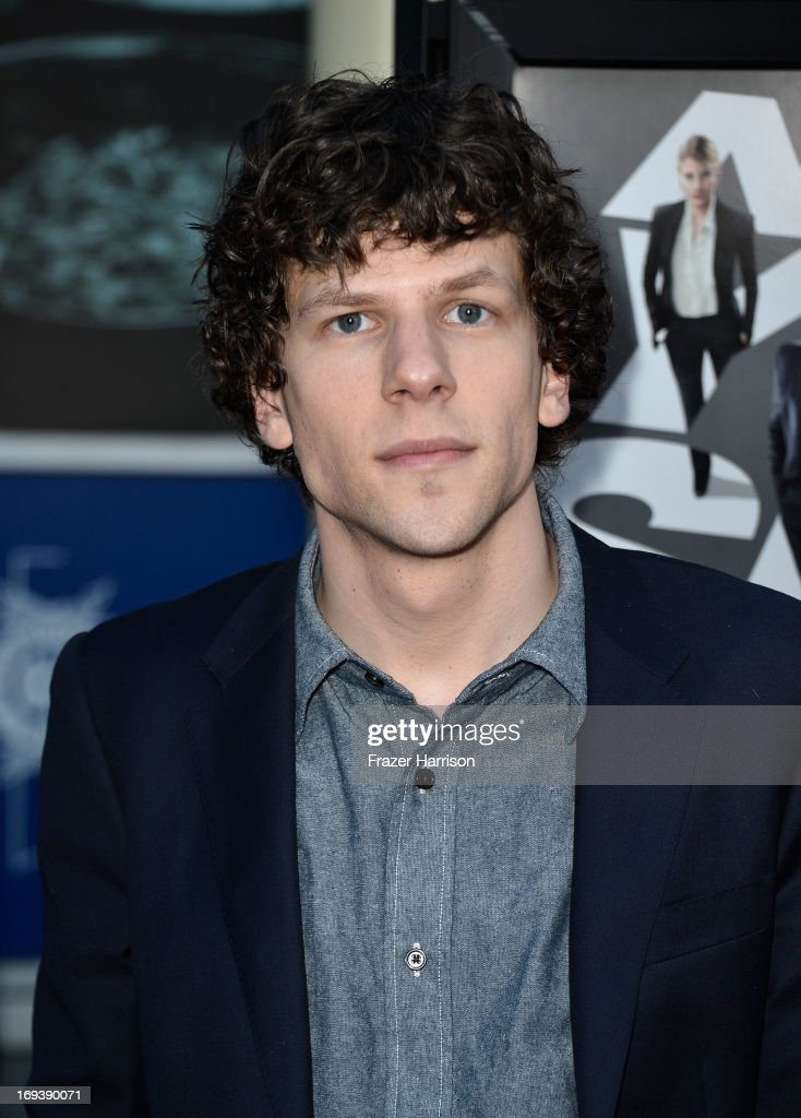 Actor <a gi-track='captionPersonalityLinkClicked' href=/galleries/search?phrase=Jesse+Eisenberg&family=editorial&specificpeople=625439 ng-click='$event.stopPropagation()'>Jesse Eisenberg</a> arrives at the Screening Of Summit Entertainment's 'Now You See Me' at ArcLight Hollywood on May 23, 2013 in Hollywood, California.