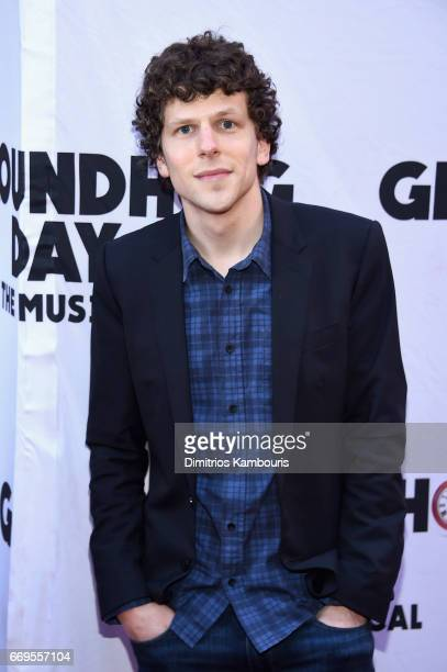 Actor Jesse Eisenberg attends the 'Groundhog Day' Broadway Opening Night at August Wilson Theatre on April 17 2017 in New York City