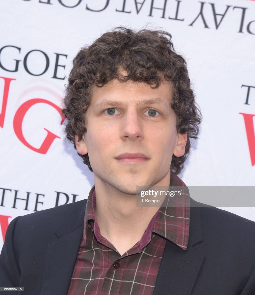 Actor Jesse Eisenberg attends 'The Play That Goes Wrong' Broadway Opening Night at the Lyceum Theatre on April 2, 2017 in New York City.