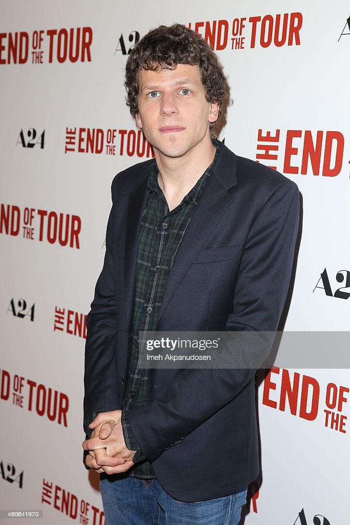 Actor <a gi-track='captionPersonalityLinkClicked' href=/galleries/search?phrase=Jesse+Eisenberg&family=editorial&specificpeople=625439 ng-click='$event.stopPropagation()'>Jesse Eisenberg</a> attends the premiere of A24's 'The End Of The Tour' at Writers Guild Theater on July 13, 2015 in Beverly Hills, California.