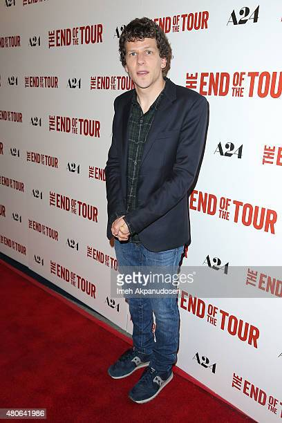 Actor Jesse Eisenberg attends the premiere of A24's 'The End Of The Tour' at Writers Guild Theater on July 13 2015 in Beverly Hills California