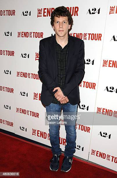 Actor Jesse Eisenberg attends the premiere of 'The End Of The Tour' at Writers Guild Theater on July 13 2015 in Beverly Hills California