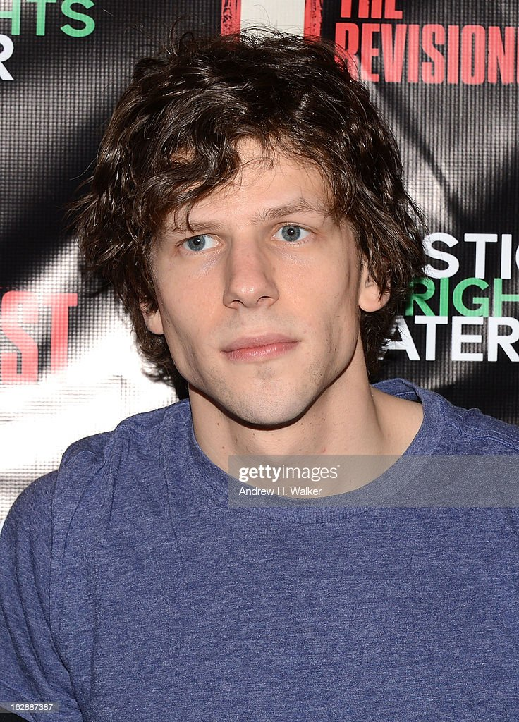 Actor Jesse Eisenberg attends 'The Revisionist' opening night at Cherry Lane Theatre on February 28, 2013 in New York City.