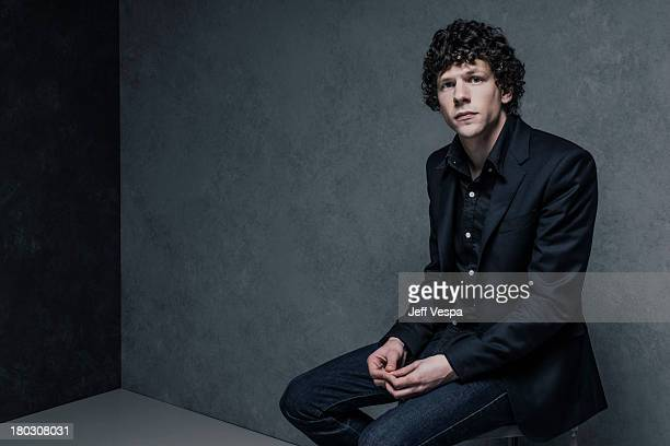 Actor Jesse Eisenberg is photographed at the Toronto Film Festival on September 9 2013 in Toronto Ontario