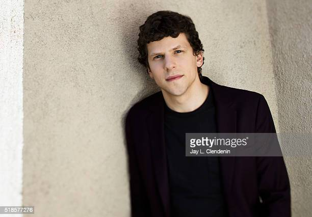 Actor Jesse Eisenberg is photographed for Los Angeles Times on March 17 2016 in Los Angeles California PUBLISHED IMAGE CREDIT MUST READ Jay L...