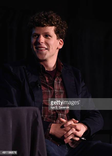 Actor Jesse Eisenberg speaks onstage during 'The New Yorker Festival 2015 Jesse Eisenberg Talks with Susan Morrison' at DGA Theater on October 3 2015...