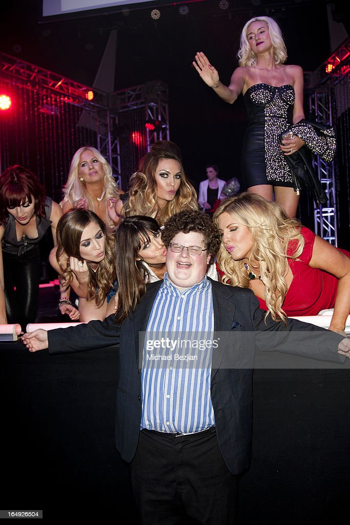 Actor Jesse Heiman with 'Pieces(Of Ass)' performers attends 'Pieces(Of Ass)' Opening Night Los Angeles Performance at The Fonda Theatre on March 28, 2013 in Los Angeles, California.