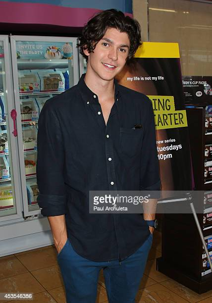 Actor Jesse Henderson attends MTV's 'Finding Carter' fan event at BaskinRobbins on August 12 2014 in Burbank California