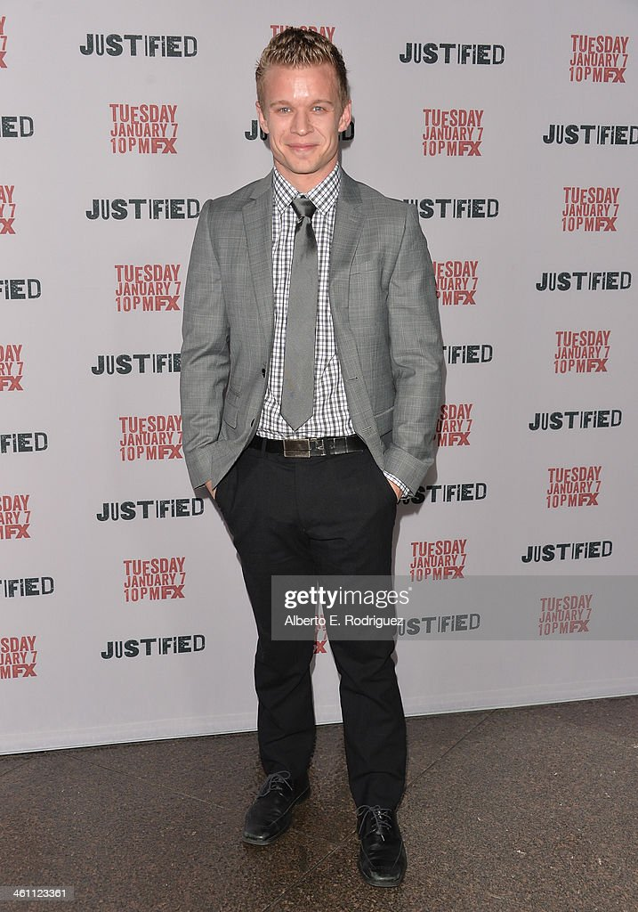 Actor Jesse Luken arrives to the Season 5 premiere of FX's 'Justified' at DGA Theater on January 6, 2014 in Los Angeles, California.