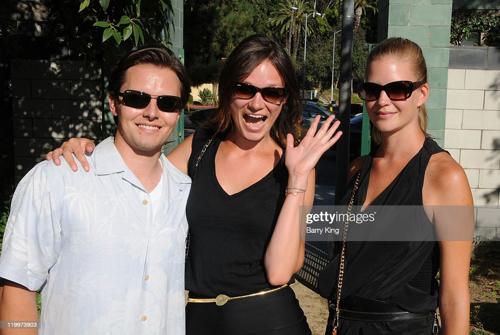 Actor Jesse McCullum and model Valya Muravleva and guest attend the Los Angeles Philharmonic and Venice Magazine's 11th Annual Hollywood Bowl Pre-Concert Picnic held at Camrose Picnic area on July 26, 2011 in Hollywood, California.