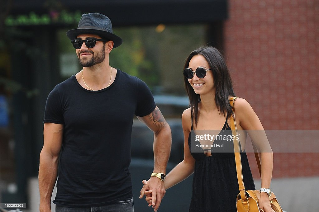 Actor Jesse Metcalfe and Cara Santana are seen in Soho on September 10 2013 in New York City