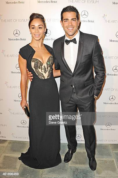 Actor Jesse Metcalfe and Cara Santana arrive at The Art of Elysium's 7th Annual HEAVEN Gala presented by MercedesBenz at Skirball Cultural Center on...