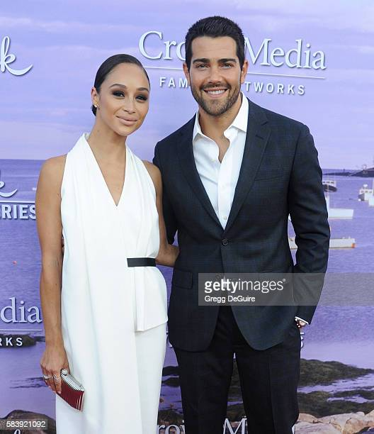 Actor Jesse Metcalfe and Cara Santana arrive at the Hallmark Channel and Hallmark Movies and Mysteries Summer 2016 TCA Press Tour Event on July 27...