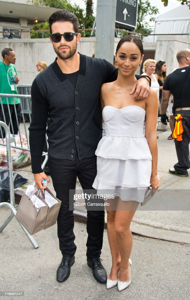 Actor <a gi-track='captionPersonalityLinkClicked' href=/galleries/search?phrase=Jesse+Metcalfe&family=editorial&specificpeople=208805 ng-click='$event.stopPropagation()'>Jesse Metcalfe</a> and fiance actress <a gi-track='captionPersonalityLinkClicked' href=/galleries/search?phrase=Cara+Santana&family=editorial&specificpeople=4311902 ng-click='$event.stopPropagation()'>Cara Santana</a> attend 2014 Mercedes-Benz Fashion Week during day 1 on September 5, 2013 in New York City.