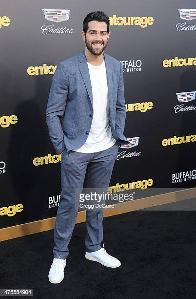 Actor Jesse Metcalfe arrives at the Los Angeles premiere of 'Entourage' at Regency Village Theatre on June 1 2015 in Westwood California