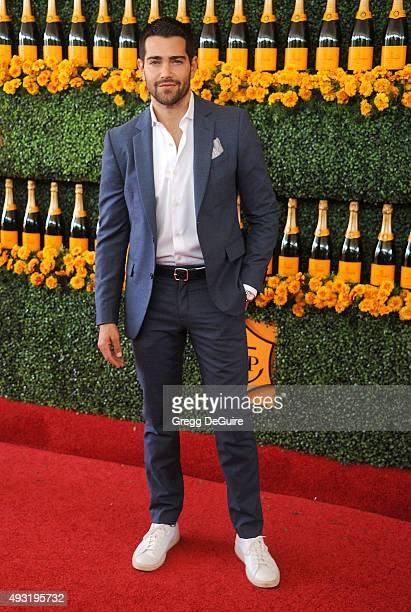Actor Jesse Metcalfe arrives at the SixthAnnual Veuve Clicquot Polo Classic Los Angeles at Will Rogers State Historic Park on October 17 2015 in...