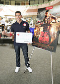 Actor Jesse Metcalfe attends Crackle and American Red Cross team up for themed 'Dead Rising Watchtower' blood drive at Sony Pictures Studios on March...