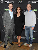 Actor Jesse Spencer actress S Epatha Merkerson and actor Jason Beghe attend the salute to Dick Wolf at the 33rd annual PaleyFest at Dolby Theatre on...