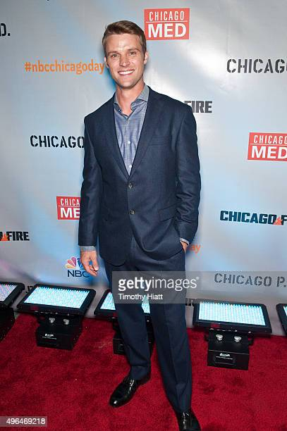 Actor Jesse Spencer attends a premiere party for NBC's 'Chicago Fire' 'Chicago PD' and 'Chicago Med' at STK Chicago on November 9 2015 in Chicago...