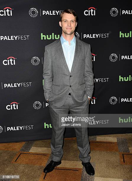 Actor Jesse Spencer attends the salute to Dick Wolf at the 33rd annual PaleyFest at Dolby Theatre on March 19 2016 in Hollywood California