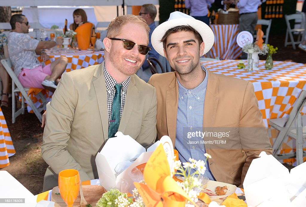 Actor <a gi-track='captionPersonalityLinkClicked' href=/galleries/search?phrase=Jesse+Tyler+Ferguson&family=editorial&specificpeople=633114 ng-click='$event.stopPropagation()'>Jesse Tyler Ferguson</a> (L) and <a gi-track='captionPersonalityLinkClicked' href=/galleries/search?phrase=Justin+Mikita&family=editorial&specificpeople=7458663 ng-click='$event.stopPropagation()'>Justin Mikita</a> attend The Fourth-Annual Veuve Clicquot Polo Classic, Los Angeles at Will Rogers State Historic Park on October 5, 2013 in Pacific Palisades, California.