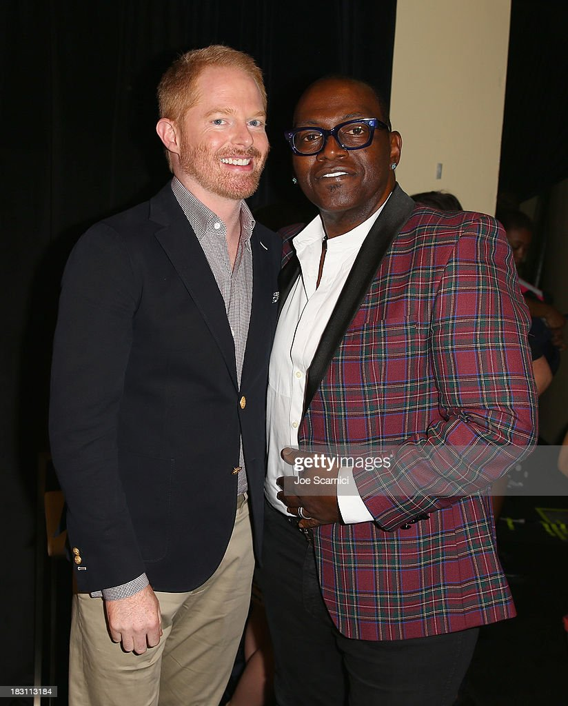 Actor Jesse Tyler Ferguson (L) and TV personality Randy Jackson attend Variety's 5th Annual Power of Women event presented by Lifetime at the Beverly Wilshire Four Seasons Hotel on October 4, 2013 in Beverly Hills, California.
