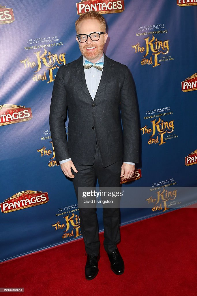 Actor Jesse Tyler Ferguson arrives at the Opening Night of The Lincoln Center Theater's Production Of Rodgers and Hammerstein's 'The King and I' at the Pantages Theatre on December 15, 2016 in Hollywood, California.