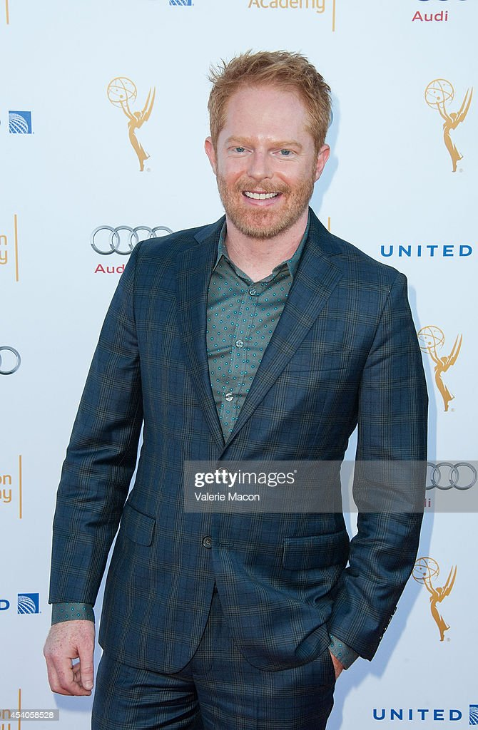 Actor <a gi-track='captionPersonalityLinkClicked' href=/galleries/search?phrase=Jesse+Tyler+Ferguson&family=editorial&specificpeople=633114 ng-click='$event.stopPropagation()'>Jesse Tyler Ferguson</a> arrives at the Television Academy's 66th Annual Emmy Awards Performers Nominee Reception at Spectra by Wolfgang Puck at the Pacific Design Center on August 23, 2014 in West Hollywood, California.