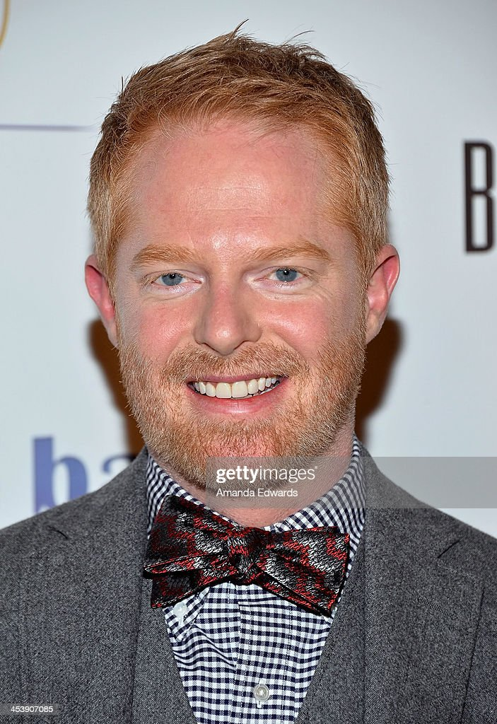 Actor <a gi-track='captionPersonalityLinkClicked' href=/galleries/search?phrase=Jesse+Tyler+Ferguson&family=editorial&specificpeople=633114 ng-click='$event.stopPropagation()'>Jesse Tyler Ferguson</a> arrives at the 'Tie The Knot' grand store opening at The Beverly Center on December 5, 2013 in Los Angeles, California.