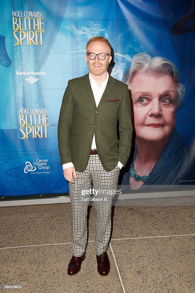 Actor Jesse Tyler Ferguson attends Noel Coward's 'Blithe Spirit'Los Angeles Opening Night Performance at Ahmanson Theatre on December 14 2014 in Los...