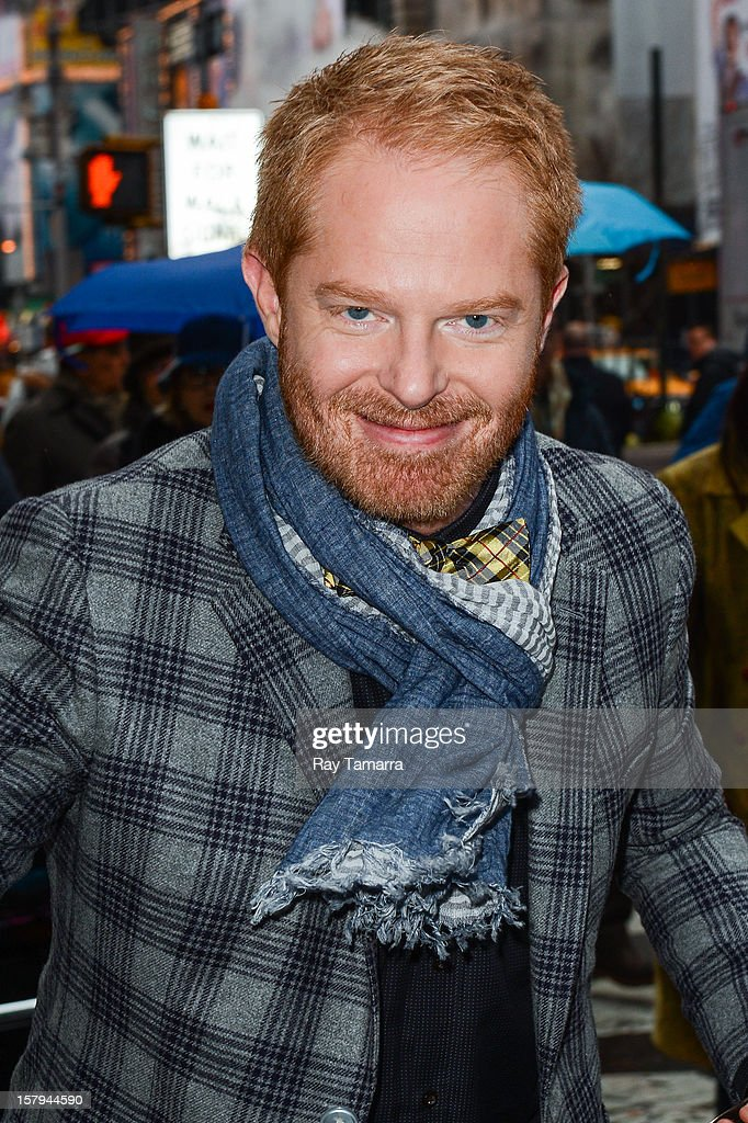 Actor <a gi-track='captionPersonalityLinkClicked' href=/galleries/search?phrase=Jesse+Tyler+Ferguson&family=editorial&specificpeople=633114 ng-click='$event.stopPropagation()'>Jesse Tyler Ferguson</a> enters the 'Big Morning Buzz' taping at the VH1 Studios on December 7, 2012 in New York City.