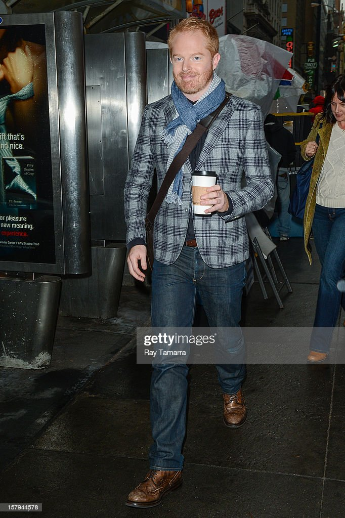 Actor Jesse Tyler Ferguson leaves the 'Big Morning Buzz' taping at the VH1 Studios on December 7, 2012 in New York City.